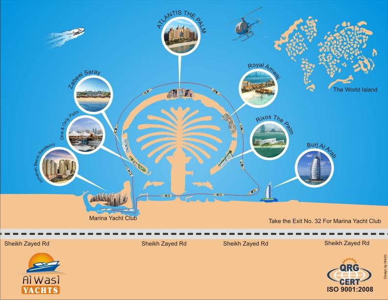 Dubai marina yacht club al wasl yachts dubai marina yacht club cruise route map gumiabroncs Choice Image